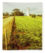 Table Cape Lighthouse Fleece Blanket