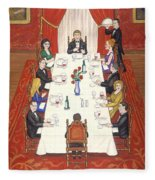 Table For Ten Fleece Blanket