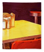 Table For Two Fleece Blanket