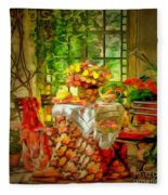 Table For Two In Ambiance Fleece Blanket