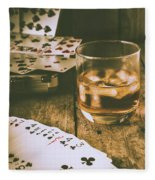 Table Games And The Wild West Saloon  Fleece Blanket