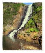 Table Mountain Waterfalls Fleece Blanket