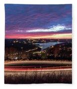 Table Rock Lake Night Shot 2 Fleece Blanket
