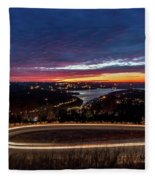 Table Rock Lake Night Shot Fleece Blanket