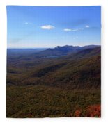 Table Rock Mountain From Caesars Head State Park In Upstate South Carolina Fleece Blanket