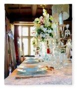 Table Setting Fleece Blanket