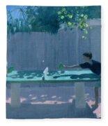 Table Tennis Fleece Blanket