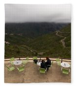 Table With A View  Fleece Blanket