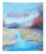 Tadpoling By The River Fleece Blanket