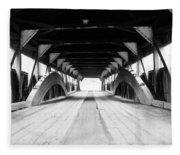 Taftsville Covered Bridge Fleece Blanket