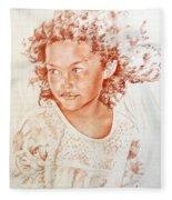 Tahitian Girl Fleece Blanket