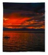 Tahoe Boat Ride Fleece Blanket