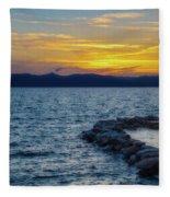 Tahoe Sunset Fleece Blanket