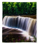 Tahquamenon Falls Fleece Blanket