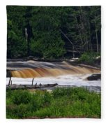 Tahquamenon Lower Falls Upper Peninsula Michigan 04 Fleece Blanket