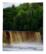 Tahquamenon Lower Falls Upper Peninsula Michigan 10 Fleece Blanket