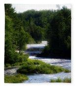 Tahquamenon Lower Falls Upper Peninsula Michigan 12 Fleece Blanket
