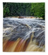Tahquamenon Lower Falls Upper Peninsula Michigan Vertical 01 Fleece Blanket