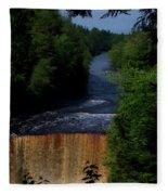 Tahquamenon Lower Falls Upper Peninsula Michigan Vertical 07 Fleece Blanket