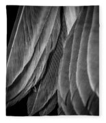 Tail Feathers Abstract Fleece Blanket