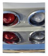 Tail Lights Of A 1966 Chevrolet Corvette Sting Ray 427 Turbo-jet Fleece Blanket