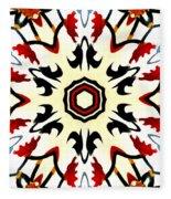 Taj Mahal Kaleidoscope Fleece Blanket