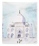 Taj Mahal Fleece Blanket
