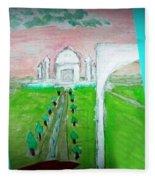 Taj Mahal Noon Fleece Blanket
