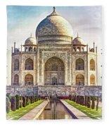 Taj Mahal - Paint Fleece Blanket