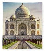 Taj Mahal Fleece Blanket
