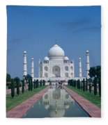 Taj Mahal View Fleece Blanket