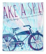 Take A Spin Fleece Blanket