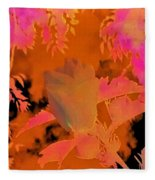 Take Three Floral Abstract Fleece Blanket
