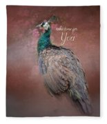 Take Time For You - Peacock Art Fleece Blanket