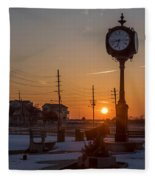 Take Time To Remember Seaside Park Nj Fleece Blanket