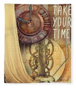 Take Your Time Fleece Blanket