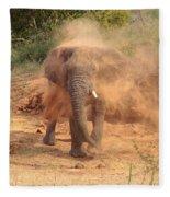 Taking A Bath Fleece Blanket