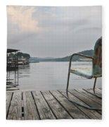 Sittin' On The Dock  Fleece Blanket