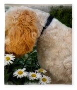 Taking Time To Smell The Flowers Fleece Blanket