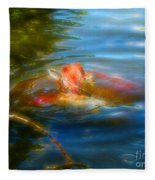 Tale Of The Wild Koi 2  Fleece Blanket