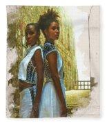 Tale Of Two Sister Fleece Blanket