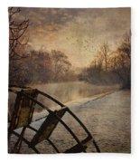 Tales From The Riverbank  II Fleece Blanket