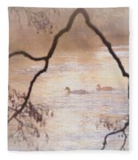 Tales From The Riverbank  Iv Fleece Blanket