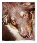 Talking Dog Fleece Blanket
