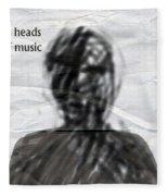 Talking Heads Fear Of Music  Fleece Blanket