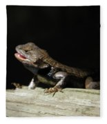 Talking Lizard Fleece Blanket