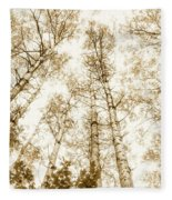 Tall Aspens Fleece Blanket