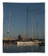 Tall Boats In The Morning Fleece Blanket
