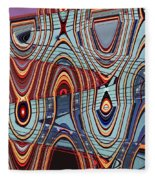 Tall Building Showing Colors Fleece Blanket