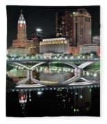Tall Columbus Reflection Fleece Blanket